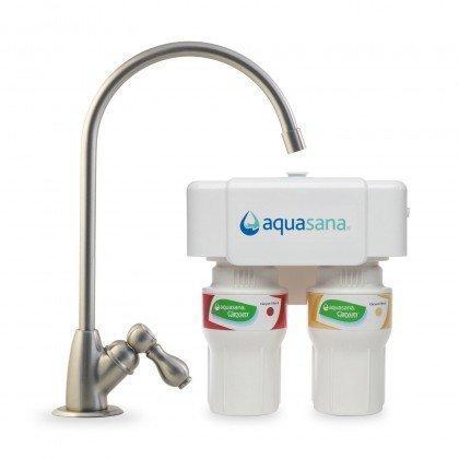 Cartuchos A y B del Filtro de Agua Aquasana AQ-5200 y grifo en níquel