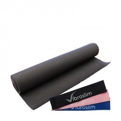 Esterilla de ejercicios + Bandas de resistencia VibroSlim