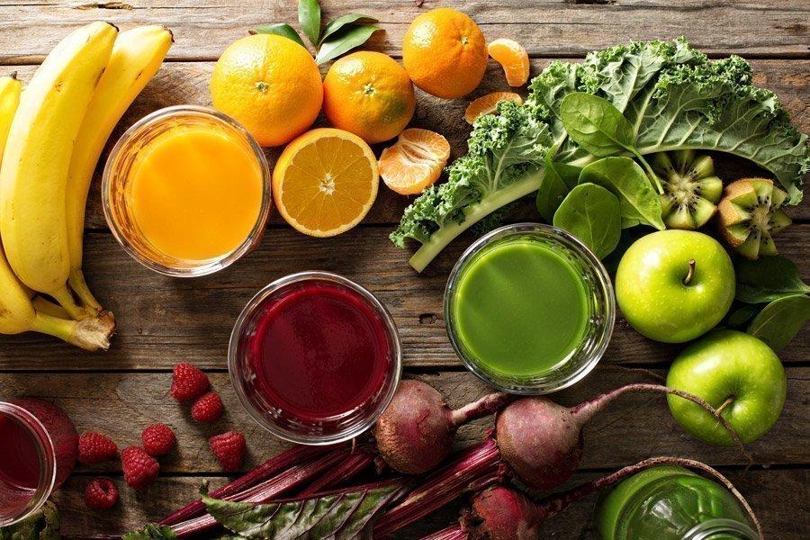 Zumo de frutas y verduras. Extractor de zumos Vitality4life