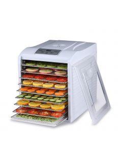 Deshidratador de alimentos BioChef Arizona Sol 9 bandejas color Blanco con frutas y verduras